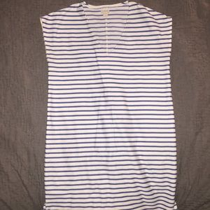 Jcrew Factory dress with blue stripes